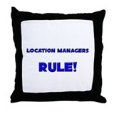 Location Managers Rule! Throw Pillow