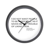Cute Jane austen quotes Wall Clock