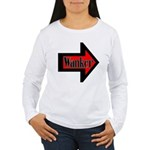 Wanker To The Left Women's Long Sleeve T-Shirt
