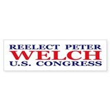 Reelect Welch Bumper Bumper Sticker