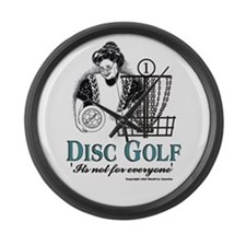 Unique Discgolfer Large Wall Clock