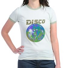 Blue-Green Disco Mirror Ball T