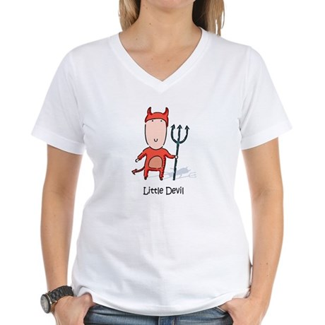Little Devil Women's V-Neck T-Shirt