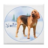 Bloodhound Noel Tile Coaster