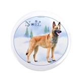"Malinois Noel 3.5"" Button"