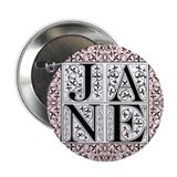 Jane Austen JANE Button