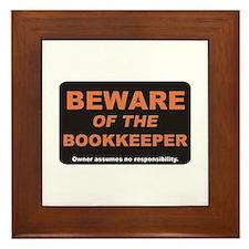 Beware / Bookkeeper Framed Tile