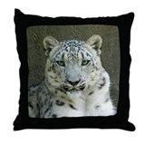 Snow Leopard M002 Throw Pillow