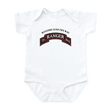 75th Ranger Scroll Rangers L Infant Bodysuit