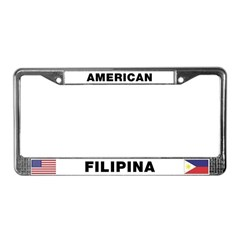 American Filipina License Plate Frame