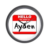 Hello my name is Ayden Wall Clock