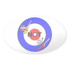 Curling NOT Curling Oval Sticker (10 pk)