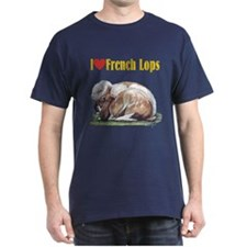 Love French Lops T-Shirt choose color