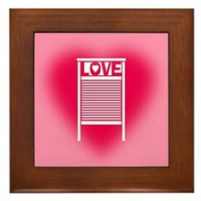 Washboard Love Framed Tile