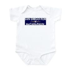 SAN DIEGO for McCain-Palin Infant Bodysuit