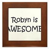 Cool Robyn Framed Tile