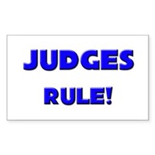 Judges Rule! Rectangle Decal
