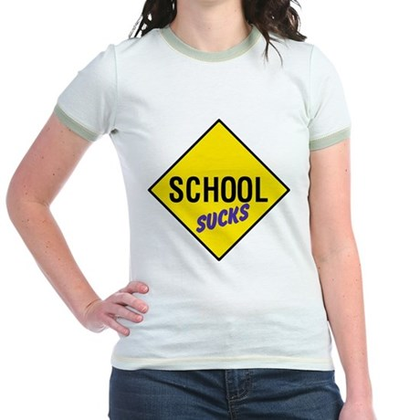 School Sucks Jr. Ringer T-Shirt