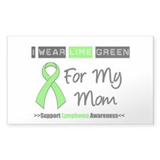 IWearLimeGreen (Mom) Rectangle Sticker 10 pk)