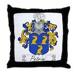 Petrini Family Crest Throw Pillow