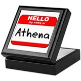 Hello my name is Athena Keepsake Box