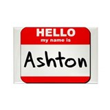 Hello my name is Ashton Rectangle Magnet (10 pack)