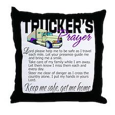 Trucker's Prayer Throw Pillow