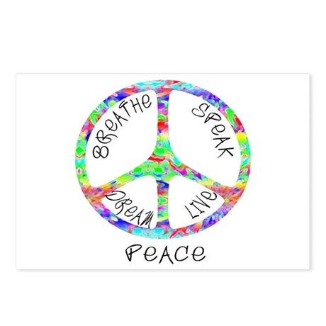 Live Peace Postcards (Package of 8)
