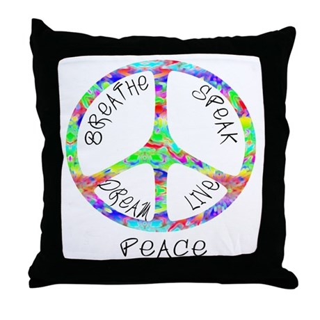 Live Peace Throw Pillow