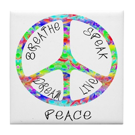 Live Peace Tile Coaster