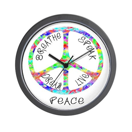Live Peace Wall Clock