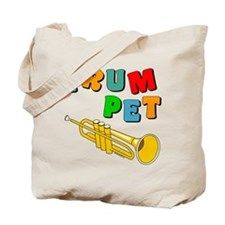 Colorful Trumpet Text Tote Bag
