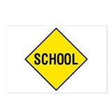 Yellow School Sign - Postcards (Package of 8)