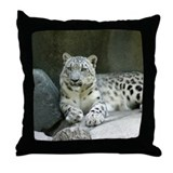 Snow Leopard M005 Throw Pillow