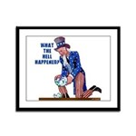Distressed Uncle Sam Framed Panel Print