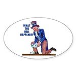 Distressed Uncle Sam Oval Sticker (50 pk)