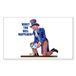 Distressed Uncle Sam Rectangle Sticker 10 pk)