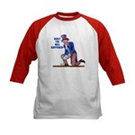 Distressed Uncle Sam Kids Baseball Jersey