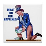 Distressed Uncle Sam Tile Coaster