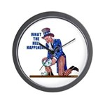 Distressed Uncle Sam Wall Clock