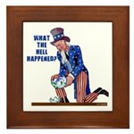 Distressed Uncle Sam Framed Tile