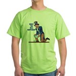 Distressed Uncle Sam Green T-Shirt