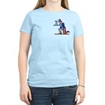 Distressed Uncle Sam Women's Light T-Shirt