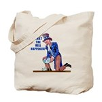 Distressed Uncle Sam Tote Bag