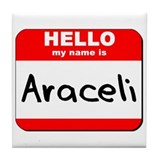 Hello my name is Araceli Tile Coaster