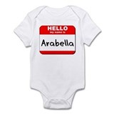 Hello my name is Arabella Onesie