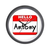 Hello my name is Antony Wall Clock