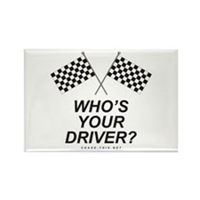 Checker Flag Driver Rectangle Magnet (10 pack)