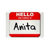 Hello my name is Anita Rectangle Magnet (10 pack)