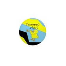 Trumpet Chick Mini Button (100 pack)